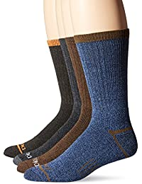 Mens 4 Pack Split Rib Moisture Control Crew Socks