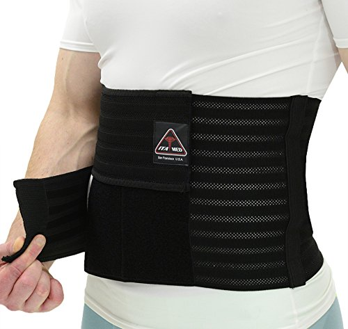 (ITA-MED Men's Breathable Elastic Postsurgical Recovery Abdominal and Back Support Wrap/Binder AB-412(M): Medium(34