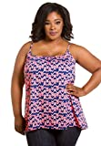 Sealed with a Kiss Designs Plus Size Tops - Printed Cami 6x Pink Chevron