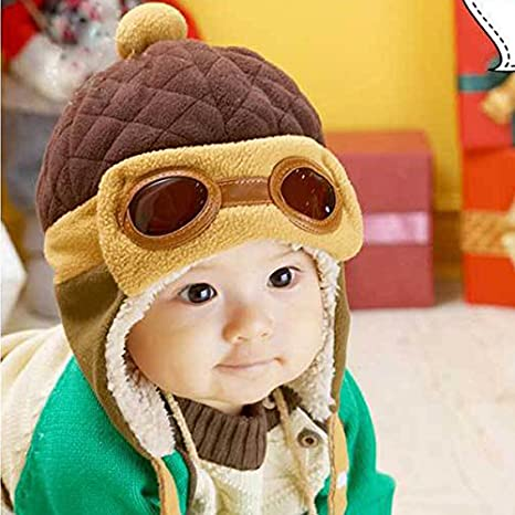 bb5975473f1f2 Amazon.com   Toddlers Warm Cap Hat Beanie Cool Baby Boy Girl Kids Infant  Winter Pilot Aviator Cap Free Shipping   Everything Else