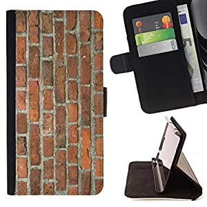 "Planetar? Modelo colorido cuero carpeta tir¨®n caso cubierta piel Holster Funda protecci¨®n Para Samsung Galaxy Note 5 5th N9200 ( Pared de ladrillo Brown r¡§?stico Orange Street Building"" )"