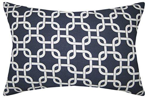 JinStyles Cotton Canvas Trellis Chain Accent Decorative Rect