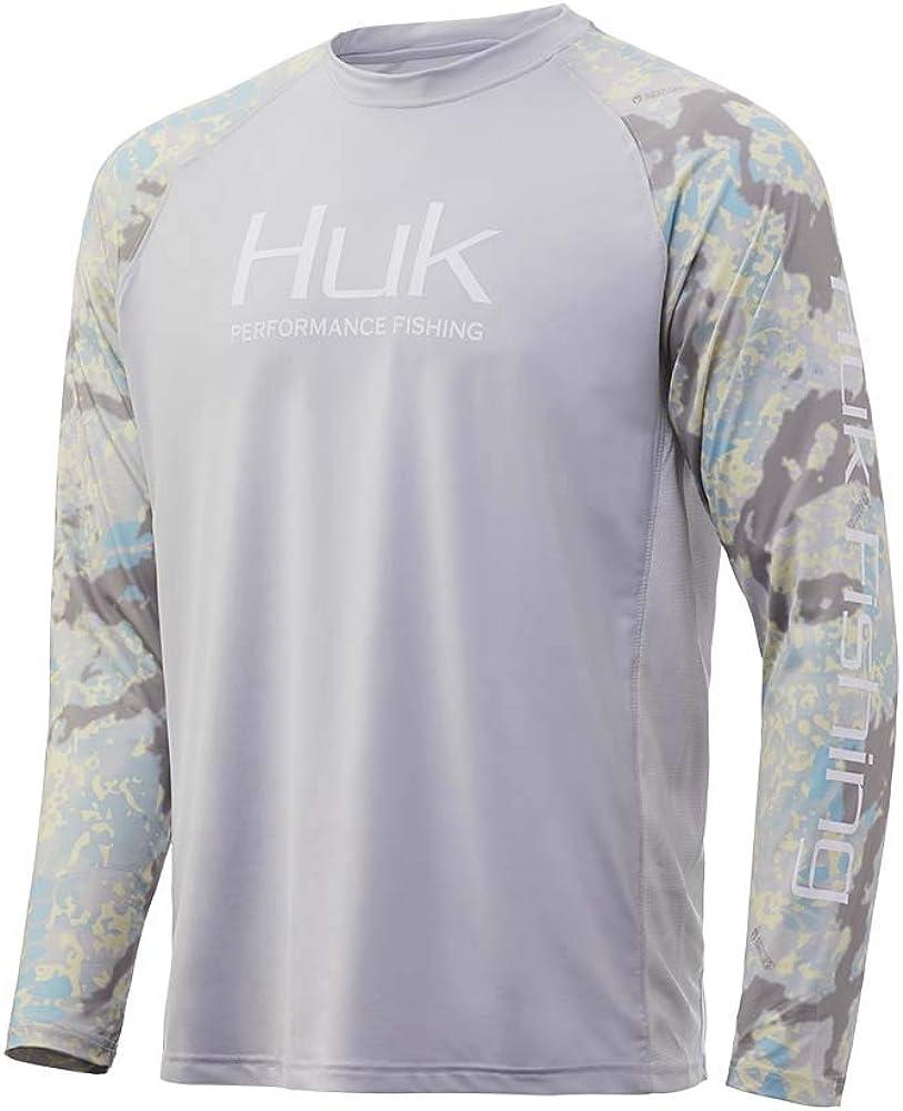 HUK Mens Kryptek Double Header Vented Long Sleeve Shirt | Long Sleeve Performance Fishing Shirt with +30 UPF Sun Protection: Clothing
