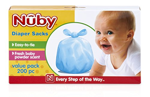 Nuby Diaper Bags, 200 Pack (Sacks Diaper)