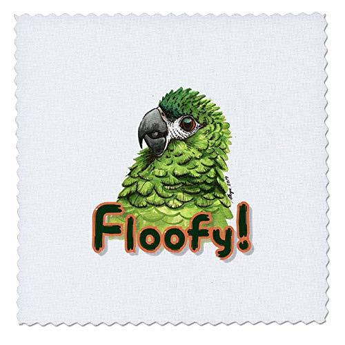 3dRose Skye Elizabeth Designs - Fluffy Hahns Macaw - 10x10 inch quilt square (qs_308669_1)