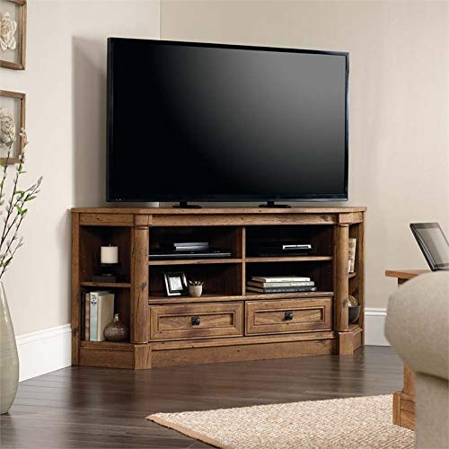 Sauder Palladia Corner Entertainment Credenza, For TVs up to 60