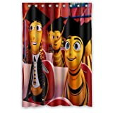 Aloundi Custom Bee Movie Shower Curtain Distinctive Waterproof Fabric Polyester Bathroom