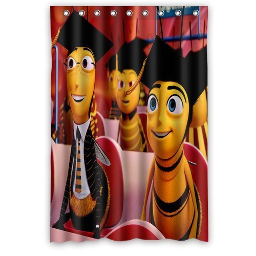 Aloundi Custom Bee Movie Shower Curtain Distinctive Waterproof Fabric Polyester Bathroom