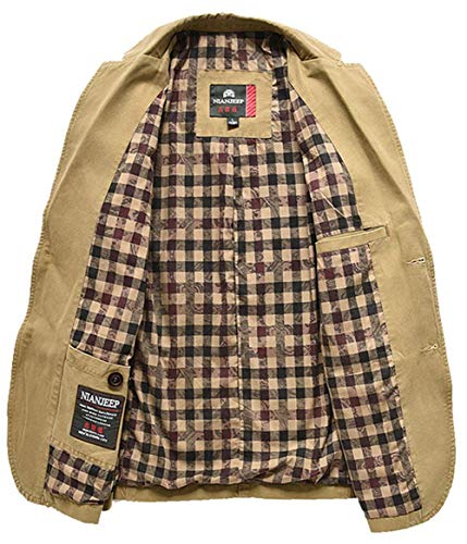 Bottoni Laisla Khaki Cotone Da Giacche A 2 Slim Classiche Giacca Fit Coat Outwear Fashion Classic Ragazzi Uomo Blazer In nwOPkX80