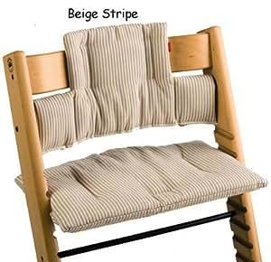 Stokke tripp trapp cushion beige stripe baby for Stokke tripp trapp amazon
