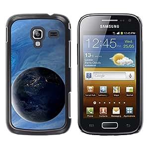 TopCaseStore / la caja del caucho duro de la cubierta de protección de la piel - Space Planet Galaxy Stars 4 - Samsung Galaxy Ace 2 I8160 Ace II X S7560M