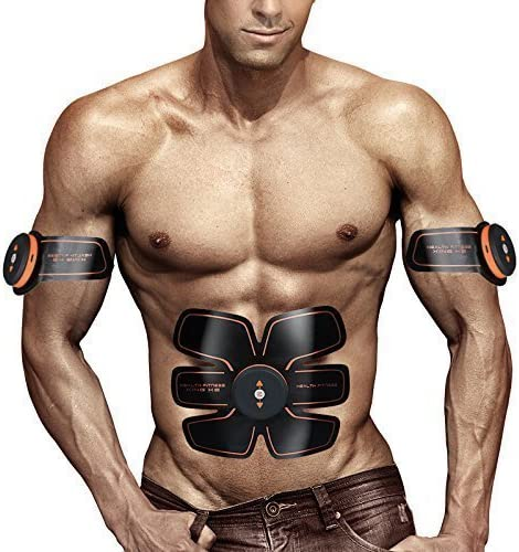 UMATE ABS Stimulator,Ab Machine,Abdominal Toning Belt Workout Portable Ab Stimulator Home Office Fitness Workout Equipment for Abdomen Arm Leg