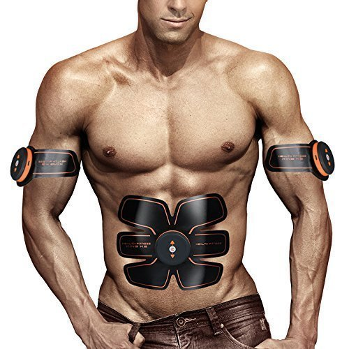 MATEHOM Abdominal Muscle, ABS Trainer Body Toning Fitness Toning Belt ABS Fit Weight Muscle Toner Workout Machine for Men & Women