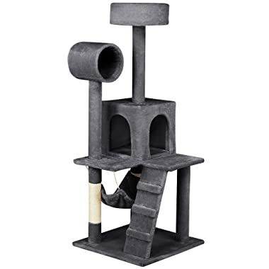 Yaheetech Cat Tree Tower Kitten Condo Scratching Post with Hammock 52