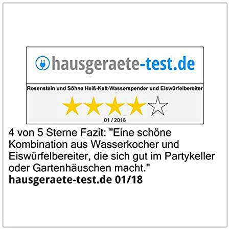 Rosenstein & Söhne caliente-fría de-dispensador de agua & Máquinas de hielo HKE-700: Amazon.es: Hogar