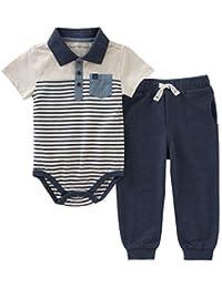 Baby Boys 2 Pieces Creeper Pant Set
