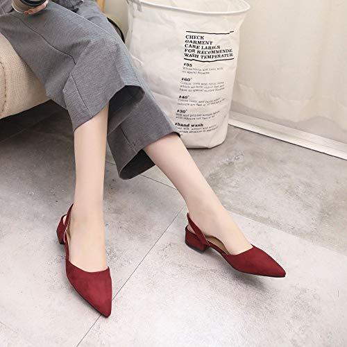 Piatto Casual Strappy Donne Scarpe alla Punta Scarpe estive da alla Sandali Traspiranti Femminili Donna delle Moda Scarpe Scarpe Tacco fPPq0gB