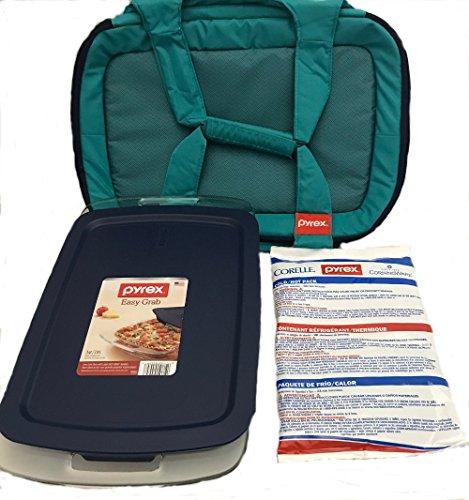 Pyrex Portables 4-pc Bundle, Turquiose