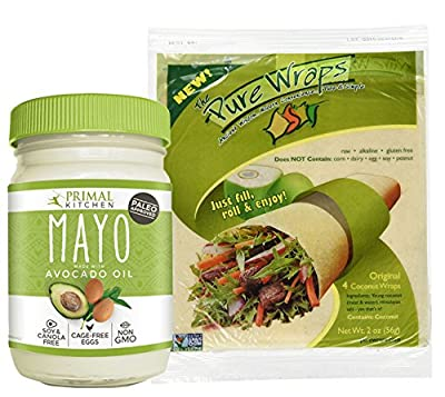 Primal Kitchen Paleo Avocado Oil Mayo and Pure Wraps Original Coconut Wraps