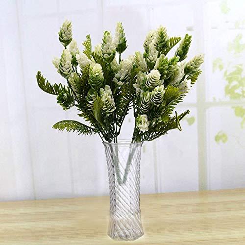 7 K Flower Fake Plants Pine Plastic Tree Branches Christmas Party Decorations Ornaments Vase Decor - Arrangements Under Bathroom Vase Maple Uv Room Home Kitchen Desk ()