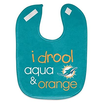 f00defbe WinCraft NFL Miami Dolphins WCRA1961014 All Pro Baby Bib