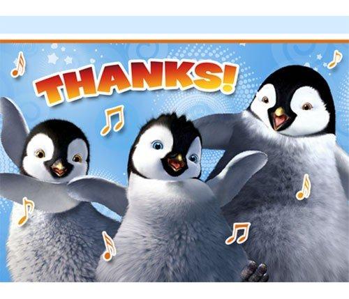 Happy Feet 'Two' Thank You Notes w/ Envelopes (8ct)