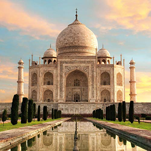 1art1 Taj Mahal Poster Art Print - The Crown of Palaces in The Morning Sun (39 x 39 inches)