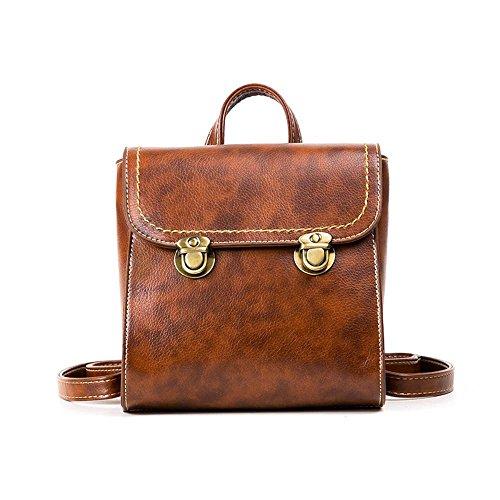 Aoligei Rétro unique épaule sac à bandoulière double style vertical école vent lady Bag A