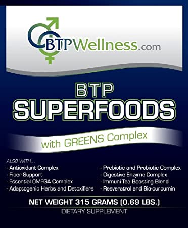 Amazon.com: BTP Superfoods de bienestar con verdes Powder ...