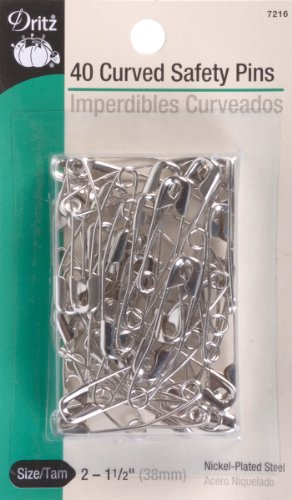 Dritz size 2 Curved Safety Pins-40 ct.
