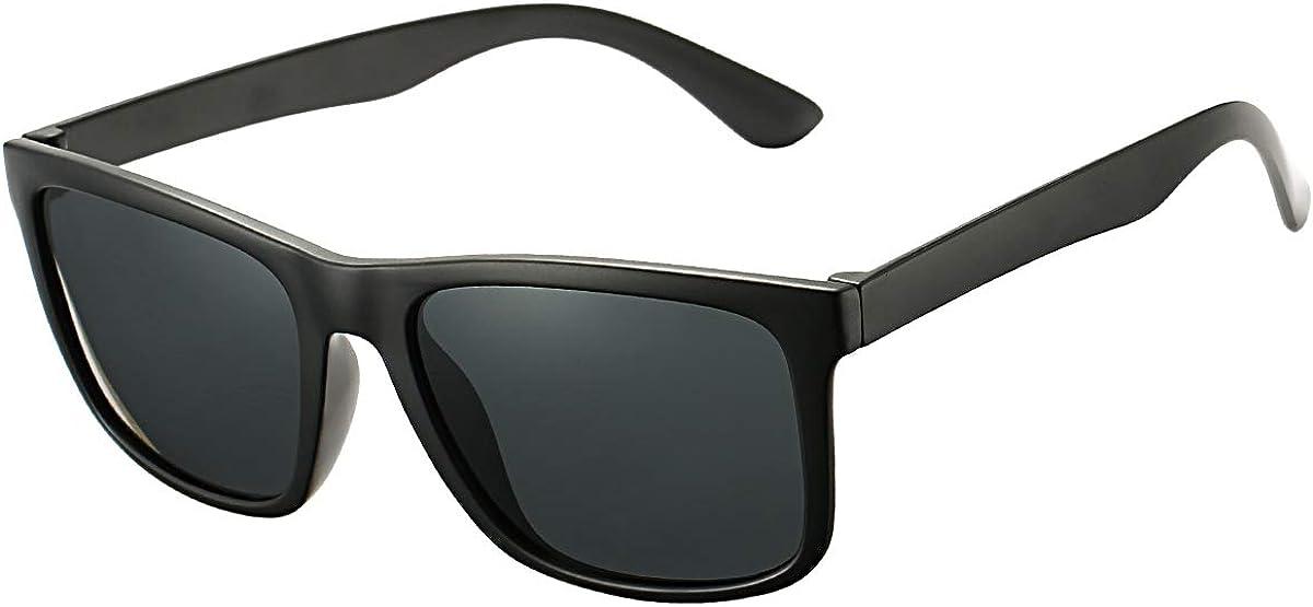 DeBuff Unisex Polarized Sunglasses Classic Retro Sun Glasses, Unbreakable TR90 Frame