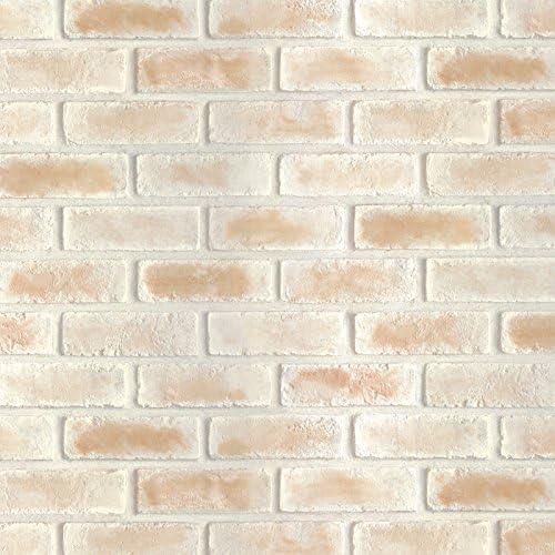 Magicfix はがせる壁紙 シール式 50cm幅x15メートル単位 (DBS-25 カスタードブリック)