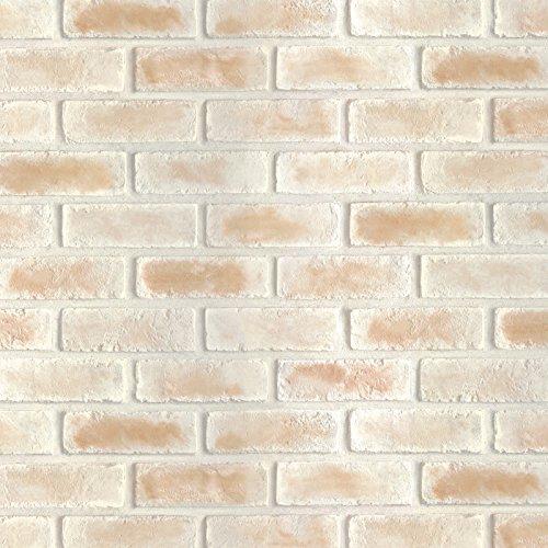 Magic-fix Peel & Stick Rustic Bread Brick and Stone Pattern Textured Vinyl Wallpaper Shelf Liner Table and Door Reform (DBS-25 : 1.64 feet X 9.84 feet)