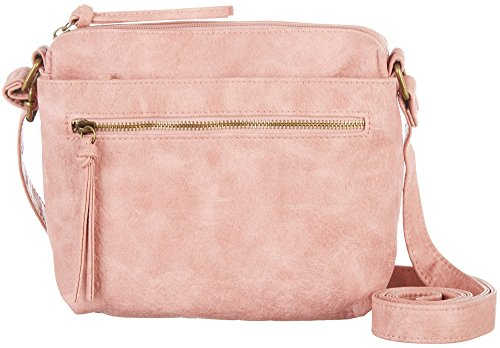 [Bueno of California Antique Pebble Soft Faux Leather Crossbody, Light Pink] (Pink Soft Leather)