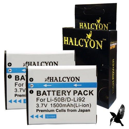 Lithium Ion Replacement Batteries for Pentax WG-20 Waterproof Digital Camera and Pentax D-LI92 ()