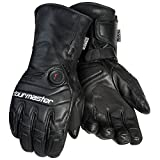 Tour Master Synergy 7.4V Mens Leather Street Racing Motorcycle Gloves - Black / Medium