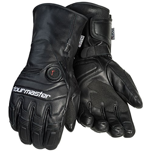 Tourmaster Synergy 7.4V Battery Heated Leather Gloves (X-LARGE) (BLACK)