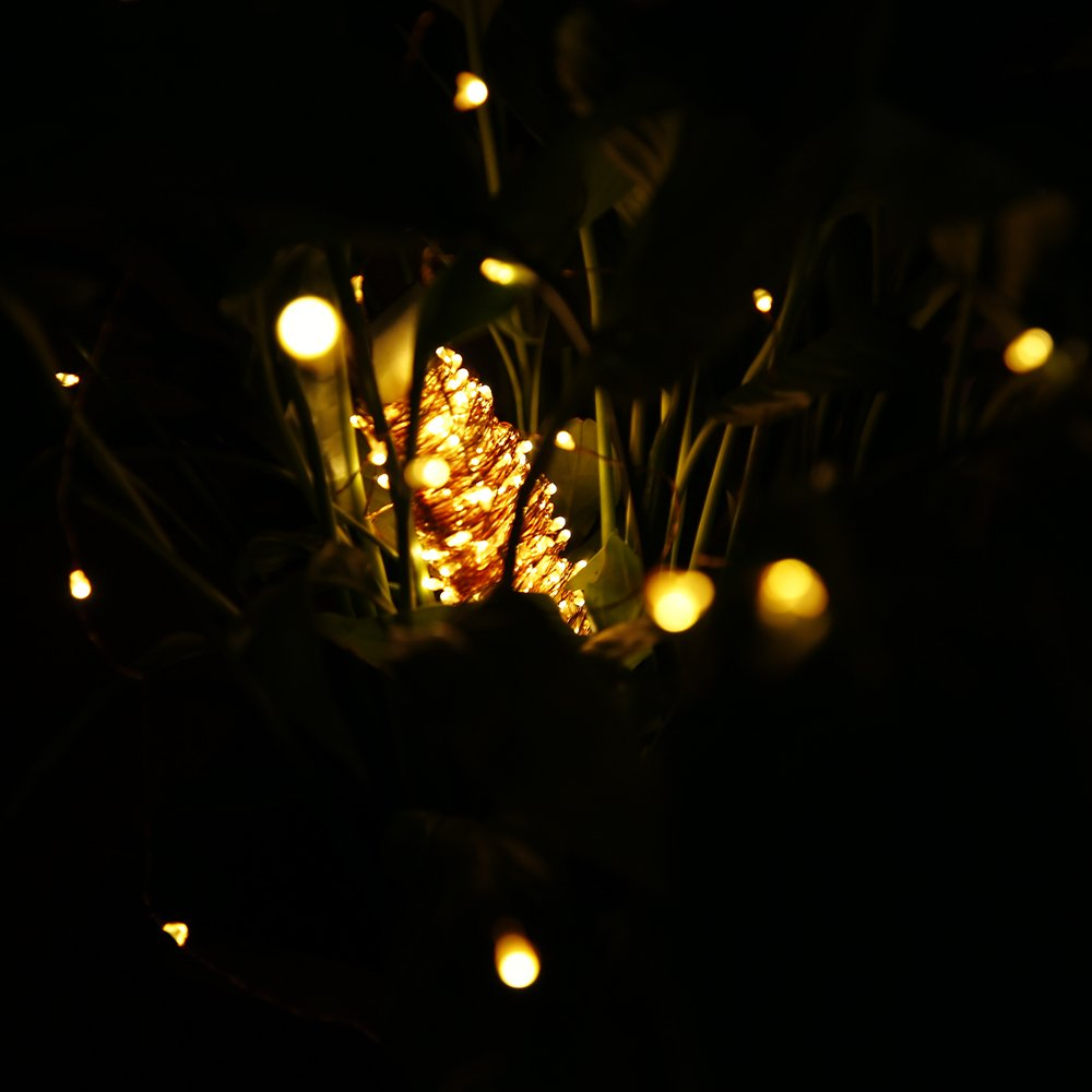 Waterproof 75 4ft Solarbuy24 Solar Garden Outdoor Solar String Lights Copper Wire 210 Leds Warmwhite Outdoor String Lights Garden Outdoors