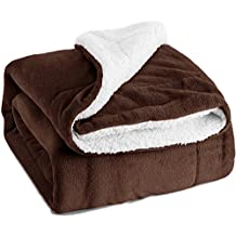 """Sherpa Throw Blanket Brown Twin Size Reversible Fuzzy Fleece Bed Blankets Microfiber All Seasons Luxury Fluffy Blanket for Bed or Couch 60""""x80"""" by Bedsure"""