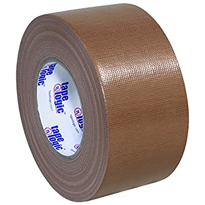 "BOX USA BT988100BR Brown Tape Logic Duct Tape, 10 mil, 3"" x 60 yd. (Pack of 16) by BOX USA"