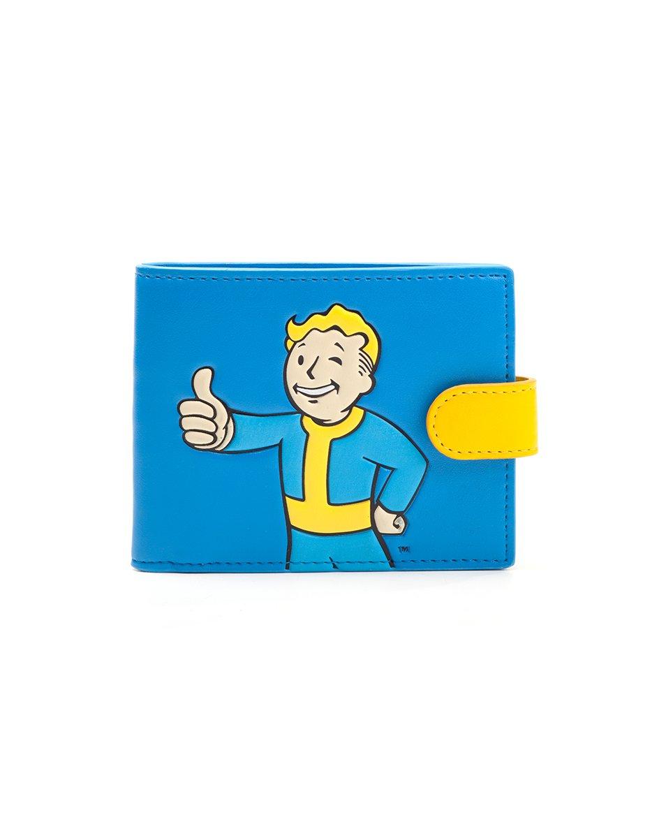 Fallout 4 Vault Boy Approved Bi-fold Wallet, Blue/Yellow (MW040203FOT) Coin Pouch, 17 cm, Blue