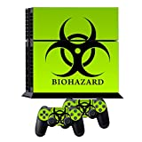 Cheap Skins for PS4 Controller – Decals for Playstation 4 Games – Stickers Cover for PS4 Console Sony Playstation Four Accessories PS4 Faceplate with Dualshock 4 Two Controllers Skin – Biological Harzard