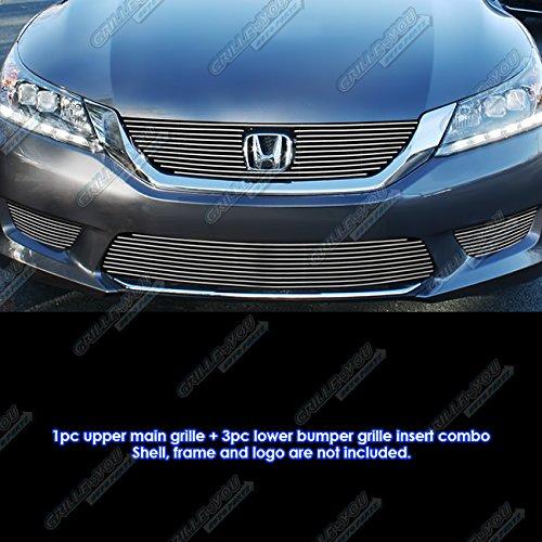 - for 2013-2015 Honda Accord Sedan W/Fog Light Cover Billet Grille Combo #N19-A76216H