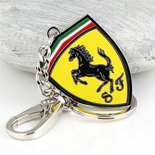 Fashion Metal Car Logo Keychain Key Chain Keyring Key Ring For Ferrari