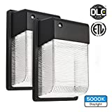 2-PACK 16W Dusk to Dawn LED Wall Pack, Photocell Outdoor LED Wall Mount Light, 150W Equivalent, 1500 Lumens, DLC Qualified, ETL-listed Exterior Security Lighting, Garage, Garden, Yard
