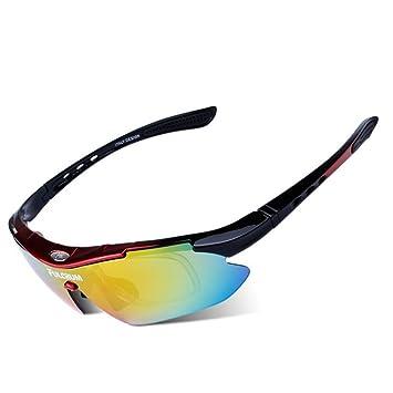 CDSS Gafas de sol deportivas polarizadas Hombre/mujer Gafas de ciclismo Viene con 5 lentes