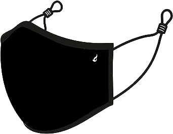 Abbacino Mascarilla unisex de adulto lavable en negro homologada UNE 0065