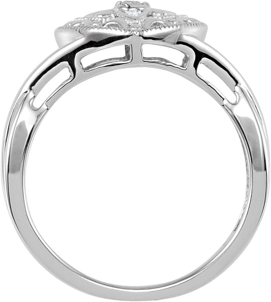 FB Jewels Set 925 Sterling Silver Genuine Amethyst Polished Genuine Amethyst And .025 CTW Diamond Earrings
