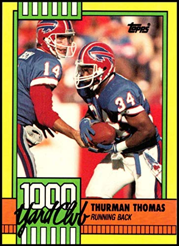 1990 Topps 1000 Yard Club One Asterisk #11 Thurman Thomas NM-MT+ Buffalo Bills Officially Licensed NFL Football Trading - Topps 1990 Card Nfl