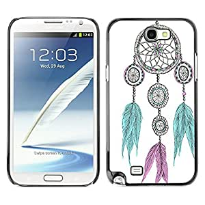 - Dream Catcher - - Slim Guard Armor Phone Case FOR Samsung Galaxy Note2 N7100 N7102 N7108 Devil Case